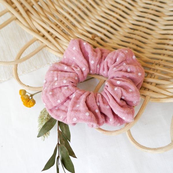 Haargummi Pünktchen/rosa