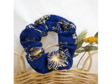 Haargummi dunkelblau/gold