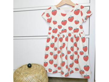 Kleid kurzarm Erdbeeren